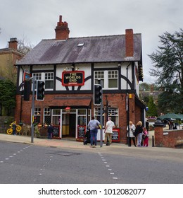 Knaresborough, England - Murch 3, 2014:  The world's end pub facade
