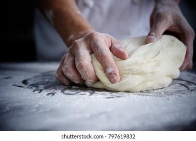 Kneading bread dough