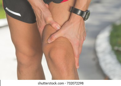 Knee injury and pain from jogging / exercising outdoors.