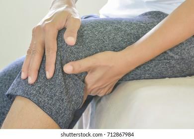 Knee pain in older people.