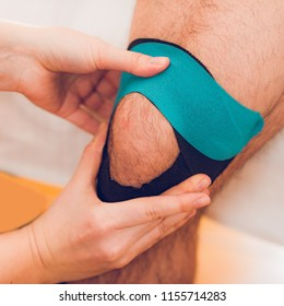 Knee treatment with kinesio tape