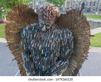 Knife Angel Sculpture at Middlesbrough. 25th August 2019
