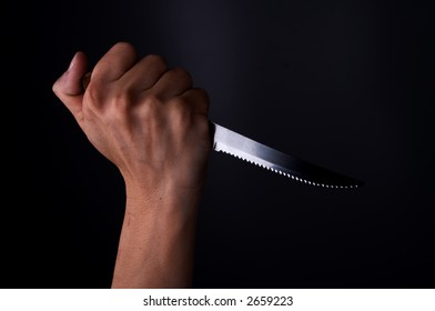 knife in hand