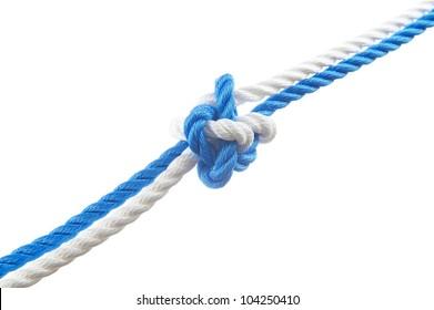 Knife lanyard knot  isolated on white background