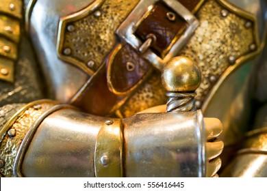 Knight in armor holding sword