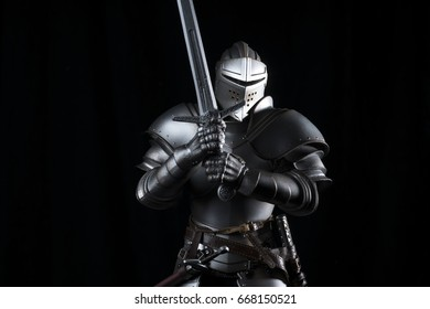 Knight with black background