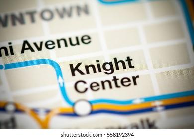 Knight Center Station. Miami Metro map.