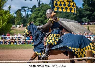 A Knight on a horse in a jousting tournament