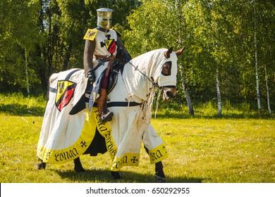 Knight on horseback. Medieval horseman