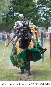 Knight on jousting tournament