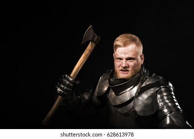 Knight prepare to attack. Aggressive
