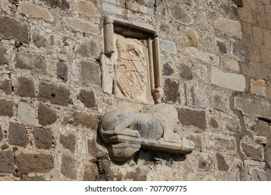Knight Symbols in Bodrum Castle, Mugla, Turkey