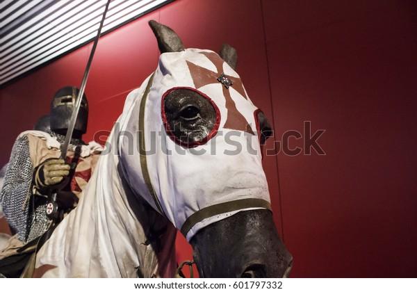 Knights Templar Armor On Horse History Stock Photo (Edit Now