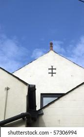 Knights Templar sign on Pack Horse pub, Briggate, Leeds
