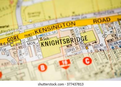 Knightsbridge London Map.Knightsbridge London Uk Map Stock Photo Edit Now 483201196