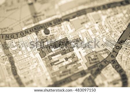 Knightsbridge London Map.Knightsbridge London Uk Map Stock Photo Edit Now 483097150