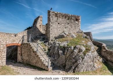 Knin fortress in Dalmatia in Croatia