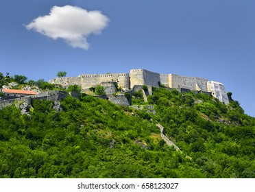 Knin Town - The largest fortress of Dalmatia on the hill Spas, Croatia
