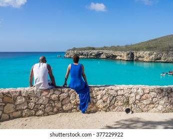 Knip Beach - On the Caribbean Island of Curacao in the Dutch Antilles