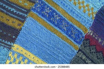 Knit background texture. Openwork crocheting, wool pattern, handmade.