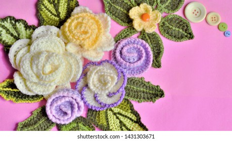 8bf6a177f3cd5 Yellow Crochet Flower Images, Stock Photos & Vectors   Shutterstock