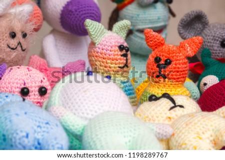 Knitted Handmade Dolls Sale Street Shop Stock Photo Edit Now
