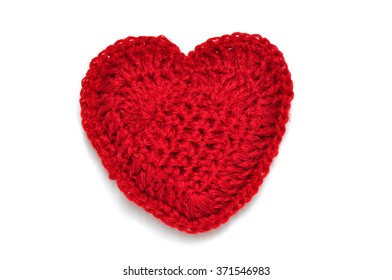 Knitted heart.