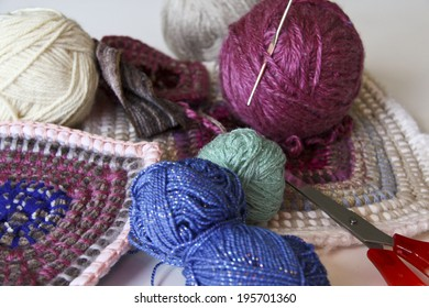 knitting accessories on the table