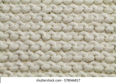 knitting cotton natural white background