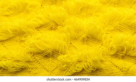 Knitting texture pattern with color yellow