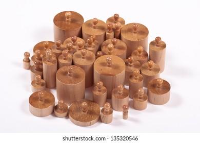 Knobbed Montessori Cylinders (School Supplies)