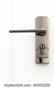 The knob's door is made of stainless steel