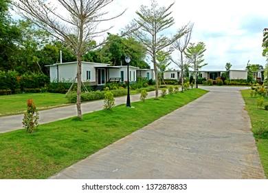 Knock-down house in resort