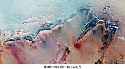 knocked down, tribute to Pollock, abstract photography of the deserts of Africa from the air, aerial view, abstract expressionism, contemporary photographic art, abstract naturalism,
