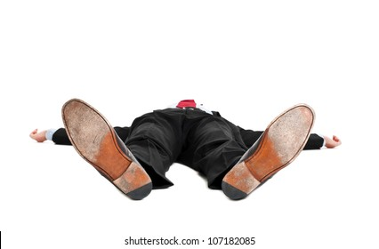 Knocked out businessman