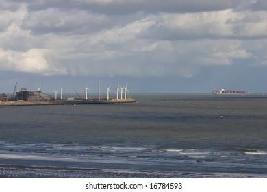 Knokke - Zeebrugge port, Belgium.