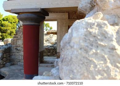 Knossos Palace in Crete, Greece.