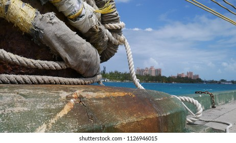 Knot of the bound cruiser and Bahamas Resorts are in background
