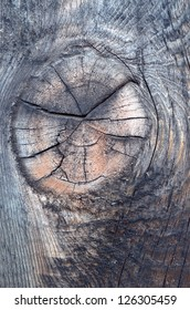 Knot on old lumber