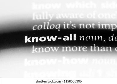 know all word in a dictionary. know all concept.