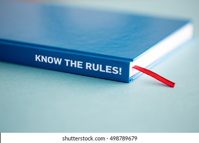 KNOW THE RULES! CONCEPT