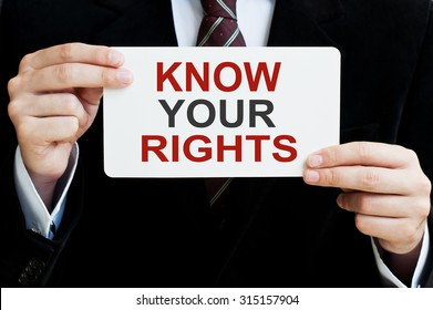 Know Your Rights card in hands