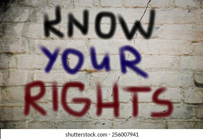 Know Your Rights Concept