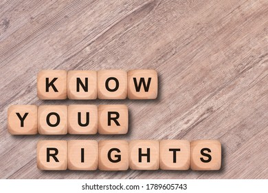 know your rights written on wooden cubes