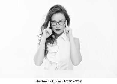 Knowledge is my passion. Woman eyeglasses attractive teacher or lecturer. Business lady smart office manager. Self education concept. Business speaker. Business conference. Lady business coach.
