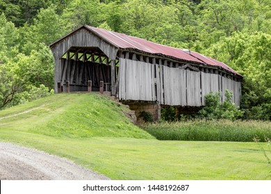 The Knowlton Covered Bridge, in rural Monroe County, Ohio, spanned the Little Muskingom River for well over a century till it collapsed on July 5th, 2019.