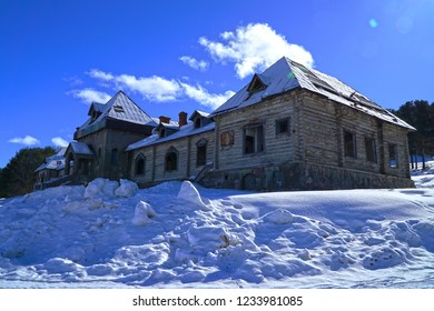 """Known as the """"Katerina mansion"""" by locals, the Katerina Hunting Lodge was built in Kars' Sarıkamış while the district was under Russian occupation for 40 years after the Ottoman-Russian War."""