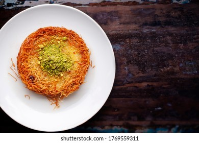 It's known by Palestinians and Syrians as Knafeh Nabulsia, but named Knafeh Na'ameh in Lebanon and Jordan.
