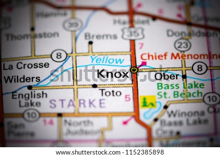 Knox Indiana Usa On Map Stock Photo Edit Now 1152385898 Shutterstock