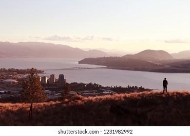 The Knox Mountain park, Kelowna view, British Columbia, Canada, Okanagan valley